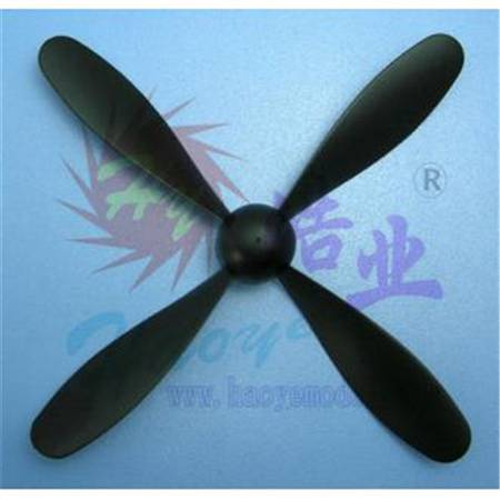 HY001-01001  4-Blade Propeller w/nut (rubber band power)